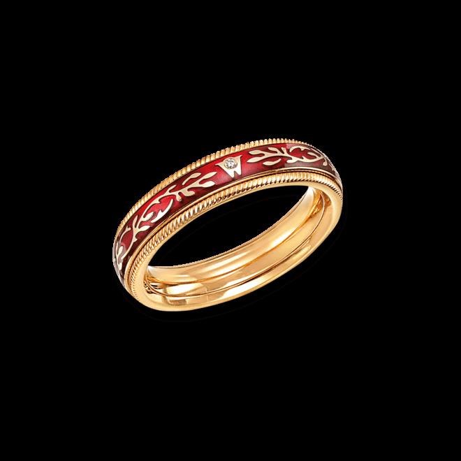 Ring Wellendorff Chili-Fantasie aus 750 Gelbgold und Wellendorff-Kaltemaille mit 1 Brillant (0,005 Karat) bei Brogle