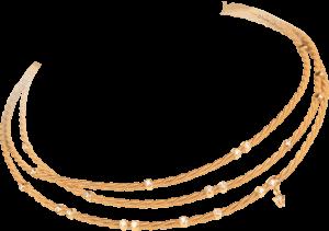Collier Wellendorff Goldspiel aus 750 Gelbgold mit mehreren Brillanten (0,62 Karat)