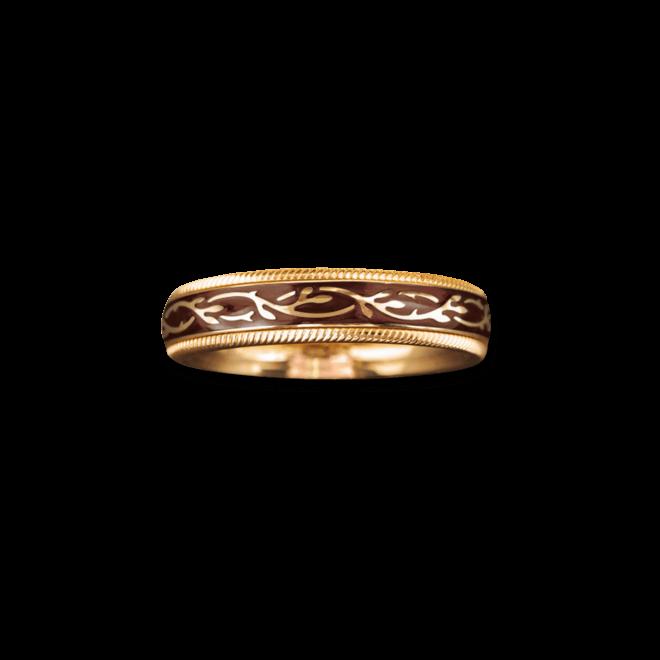 Ring Wellendorff Nougat Fantasie aus 750 Gelbgold und Emaille mit 1 Brillant (0,005 Karat)