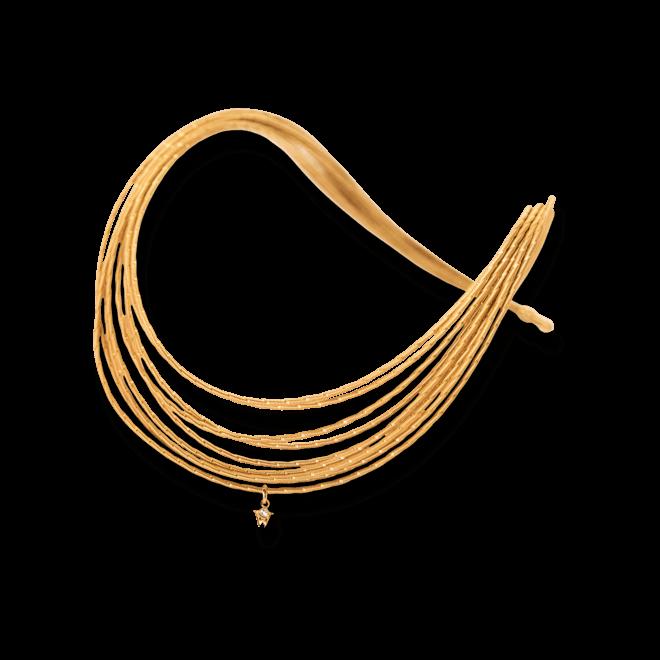 Collier Wellendorff Sonnenglanz aus 750 Gelbgold mit 1 Brillant (0,017 Karat)