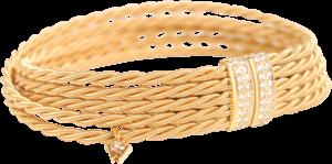 Armband Wellendorff Sternentraum aus 750 Gelbgold mit mehreren Brillanten (0,58 Karat)