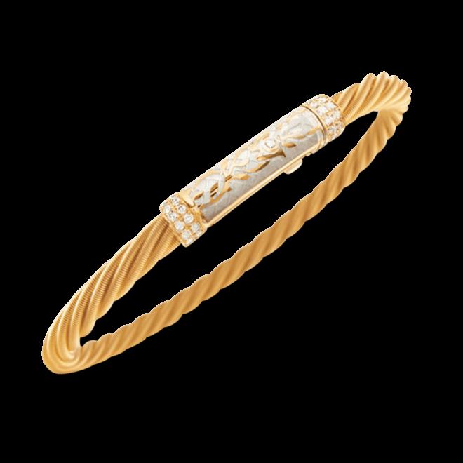 Armband Wellendorff Champagner Prinzesse aus 750 Gelbgold und Emaille mit mehreren Brillanten (0,21 Karat)