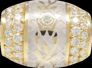 Ronde Wellendorff Champagner aus 750 Gelbgold und Wellendorff-Kaltemaille mit mehreren Brillanten (1,04 Karat)