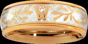 Ring Wellendorff Trüffel aus 750 Gelbgold und Wellendorff-Kaltemaille mit 1 Brillant (0,017 Karat)