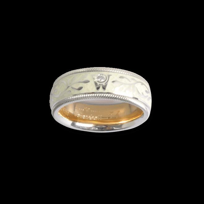 Ring Wellendorff Trüffel aus 750 Weißgold und Wellendorff-Kaltemaille mit 1 Brillant (0,017 Karat) bei Brogle