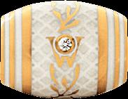 Ronde Wellendorff Trüffel aus 750 Gelbgold und Wellendorff-Kaltemaille mit 1 Brillant (0,017 Karat)