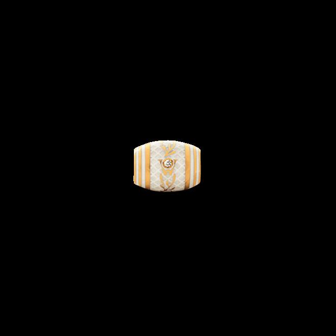 Ronde Wellendorff Trüffel aus 750 Gelbgold und Emaille mit 1 Brillant (0,017 Karat)