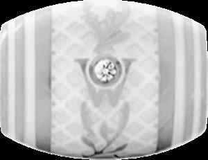 Ronde Wellendorff Trüffel aus 750 Weißgold mit 1 Brillant (0,017 Karat)