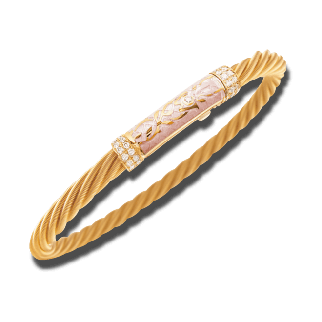 Armband Wellendorff Seidentraum Prinzesse aus 750 Gelbgold und Wellendorff-Kaltemaille mit mehreren Brillanten (0,21 Karat) bei Brogle