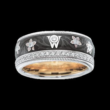 Wellendorff Ring Schwarze Seide 6.6890_WG