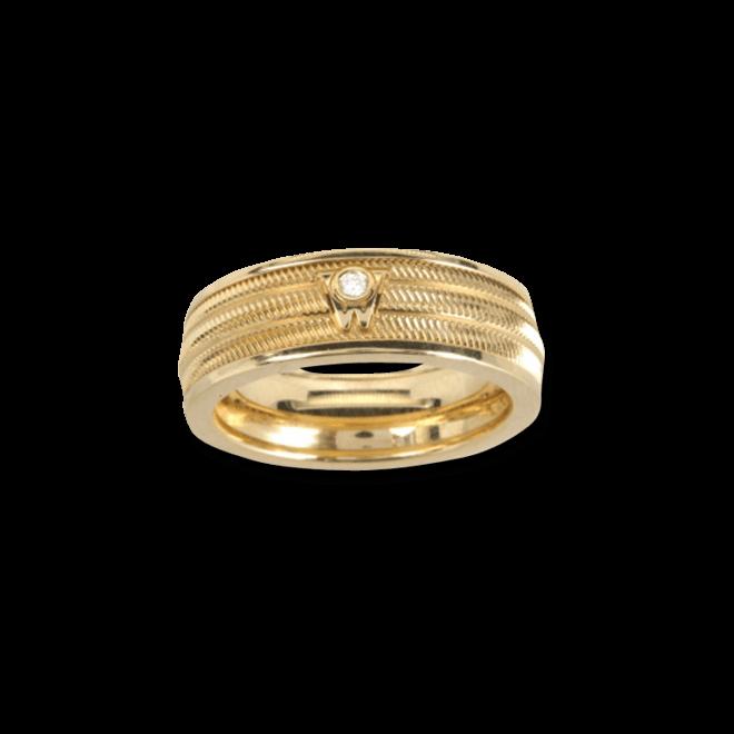Ring Wellendorff Brillant-Adam aus 750 Gelbgold mit 1 Brillant (0,02 Karat)