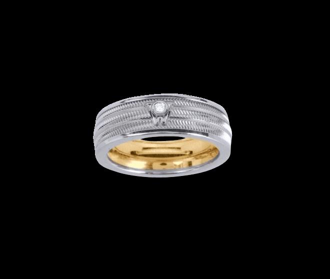 Ring Wellendorff Brillant-Adam aus 750 Weißgold mit 1 Brillant (0,02 Karat)