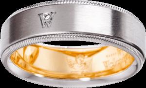Ring Wellendorff Brillant-Adonis aus 750 Weißgold mit 1 Brillant (0,02 Karat)