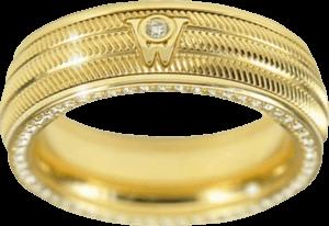 Ring Wellendorff Brillant-Eva aus 750 Gelbgold mit mehreren Brillanten (0,58 Karat)