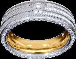 Ring Wellendorff Brillant-Eva aus 750 Weißgold mit mehreren Brillanten (0,58 Karat)