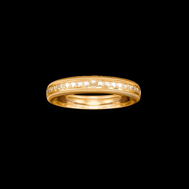 Ring Wellendorff Brillant-Julia aus 750 Gelbgold mit mehreren Brillanten (0,58 Karat)