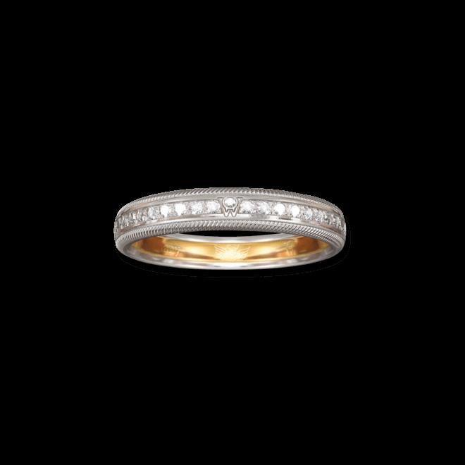 Ring Wellendorff Brillant-Julia aus 750 Weißgold mit mehreren Brillanten (0,58 Karat)