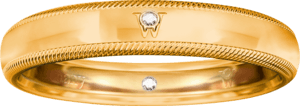 Ring Wellendorff Brillant-Romeo aus 750 Gelbgold mit 2 Brillanten (0,01 Karat)