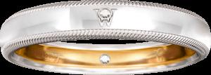Ring Wellendorff Brillant-Romeo aus 750 Weißgold mit 2 Brillanten (0,01 Karat)