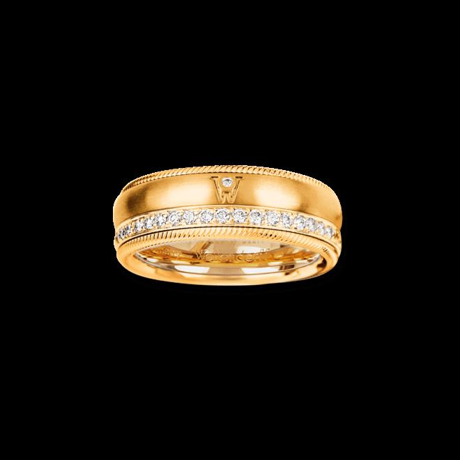 Ring Wellendorff Brillant-Venus aus 750 Gelbgold mit mehreren Brillanten (0,48 Karat) bei Brogle