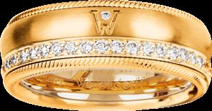 Ring Wellendorff Brillant-Venus aus 750 Gelbgold mit mehreren Brillanten (0,48 Karat)