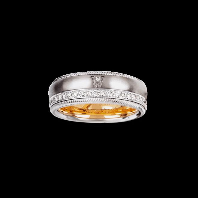 Ring Wellendorff Brillant-Venus aus 750 Weißgold mit mehreren Brillanten (0,48 Karat)
