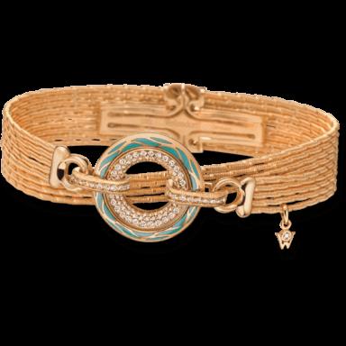 Wellendorff Armband mit Anhänger Wahres Glück Aqua 3.4727_GG