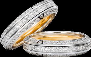 Ring Wellendorff Wahres Glück Diamant aus 750 Weißgold mit mehreren Brillanten (1,194 Karat)