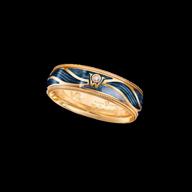 Ring Wellendorff Wahres Glück Engelskraft aus 750 Gelbgold und Wellendorff-Kaltemaille mit 1 Brillant (0,017 Karat) bei Brogle