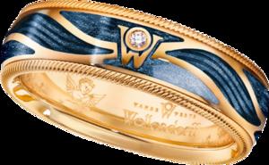 Ring Wellendorff Wahres Glück Engelskraft aus 750 Gelbgold und Wellendorff-Kaltemaille mit 1 Brillant (0,017 Karat)