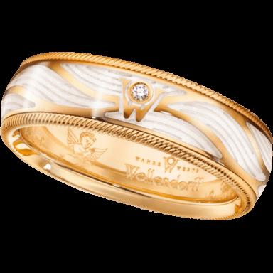 Wellendorff Ring Wahres Glück Engelsschimmer 6.7105_GG