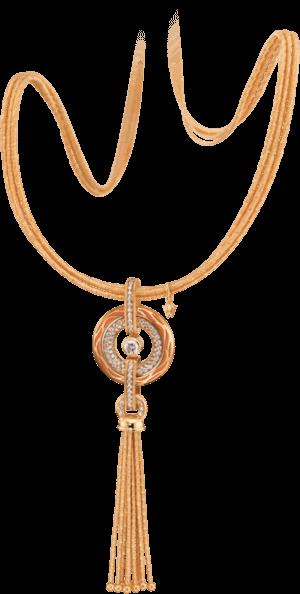 Amulett Wellendorff Wahres Glück Koralle aus 750 Gelbgold und Wellendorff-Kaltemaille mit mehreren Brillanten (1,24 Karat)