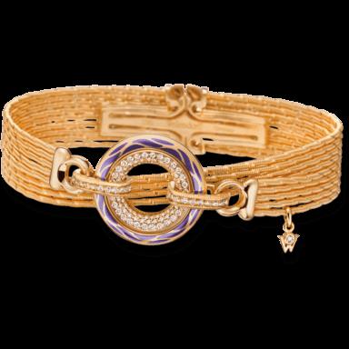 Wellendorff Armband mit Anhänger Wahres Glück Lavendel 3.4725_GG