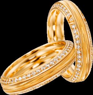 Ring Wellendorff Wahres Glück Liebesglück aus 750 Gelbgold mit mehreren Brillanten (0,676 Karat)