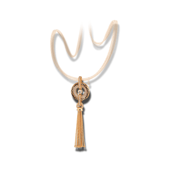 Amulett Wellendorff Wahres Glück Onyx aus 750 Gelbgold und Emaille mit mehreren Brillanten (1,24 Karat)