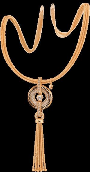 Amulett Wellendorff Wahres Glück Onyx aus 750 Gelbgold und Wellendorff-Kaltemaille mit mehreren Brillanten (1,24 Karat)