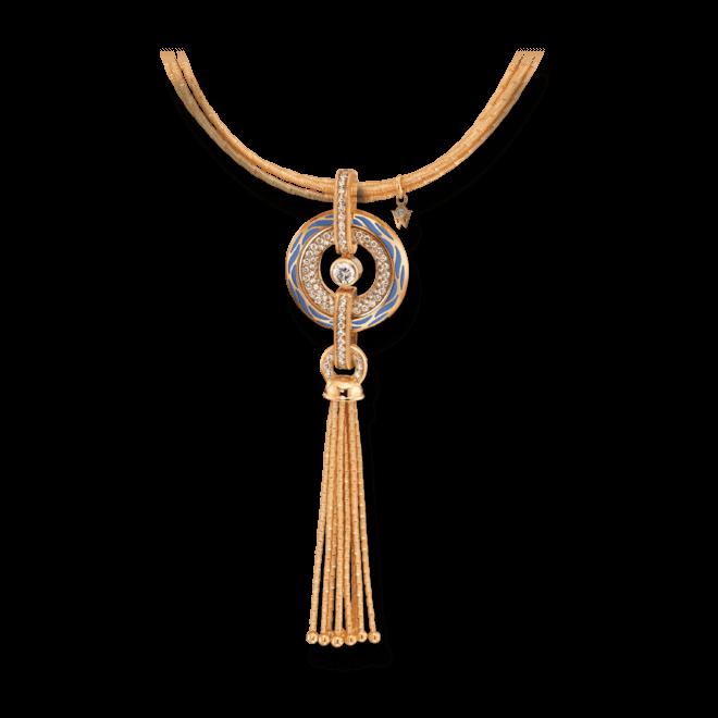 Amulett Wellendorff Wahres Glück Ozean aus 750 Gelbgold und Wellendorff-Kaltemaille mit mehreren Brillanten (1,24 Karat) bei Brogle