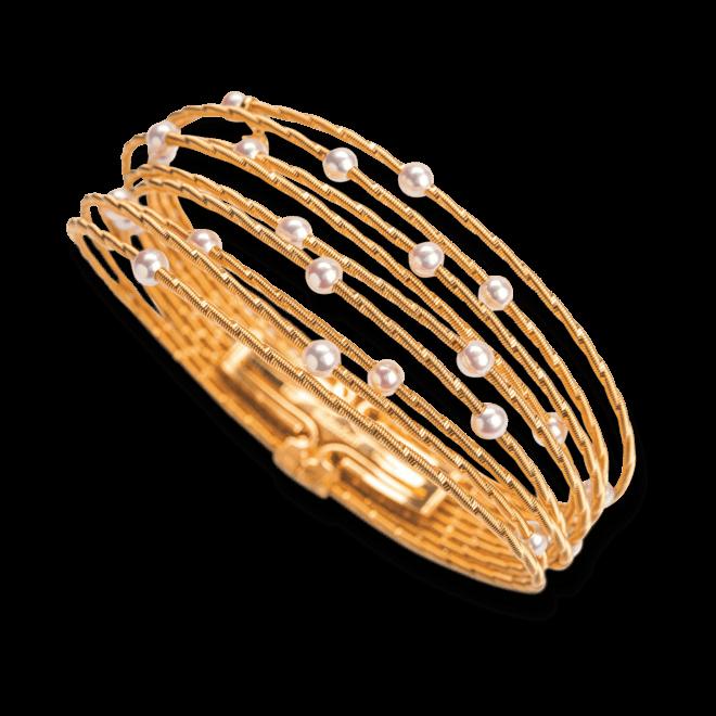 Armband Wellendorff Perlglück aus 750 Gelbgold mit mehreren Akoya-Perlen und 1 Brillant (0,017 Karat)