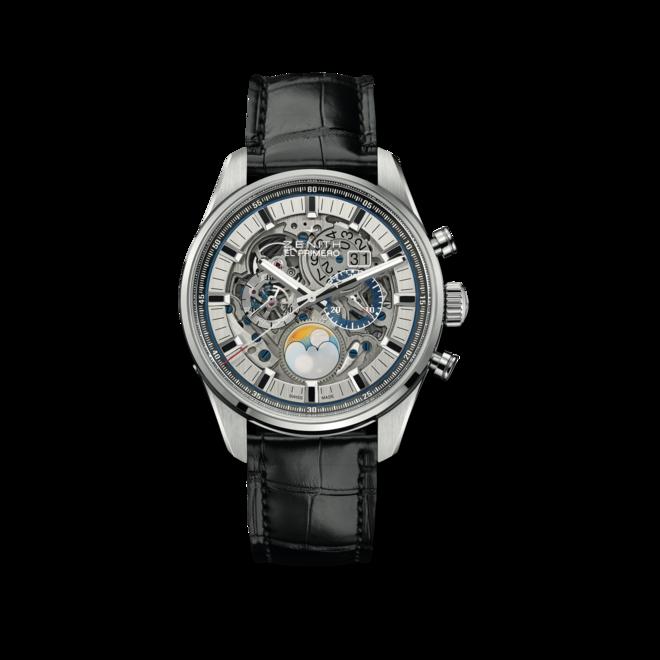 Herrenuhr Zenith Chronomaster El Primero Full Open Heart 45mm mit Alligatorenleder-Armband bei Brogle