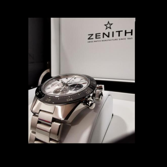 Herrenuhr Zenith Chronomaster Sport mit weißem Zifferblatt und Edelstahlarmband bei Brogle