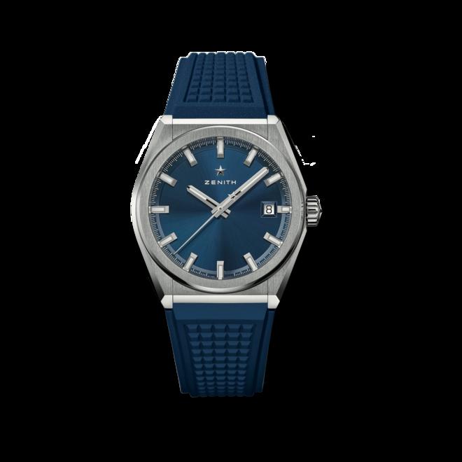 Herrenuhr Zenith Defy Classic 41mm mit blauem Zifferblatt und Kautschukarmband bei Brogle