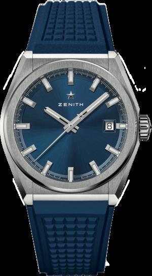 Herrenuhr Zenith Defy Classic 41mm mit blauem Zifferblatt und Kautschukarmband