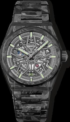 Herrenuhr Zenith Defy Classic Carbon 41mm mit schwarzem Zifferblatt und Carbonarmband