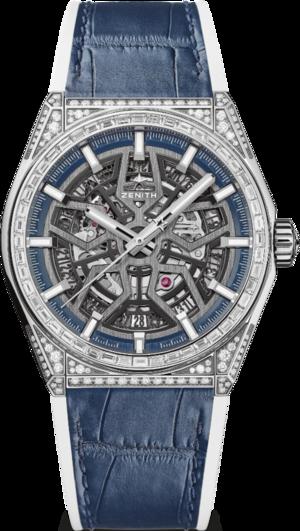 Herrenuhr Zenith Defy Classic Jewelry 41mm mit Diamanten und Alligatorenleder-Armband