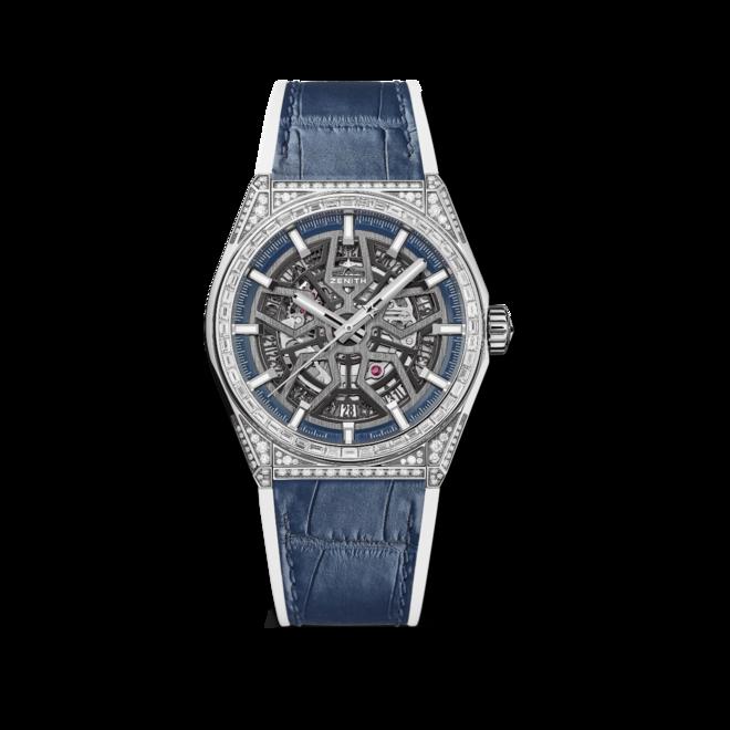 Herrenuhr Zenith Defy Classic Jewelry 41mm mit Diamanten und Alligatorenleder-Armband bei Brogle