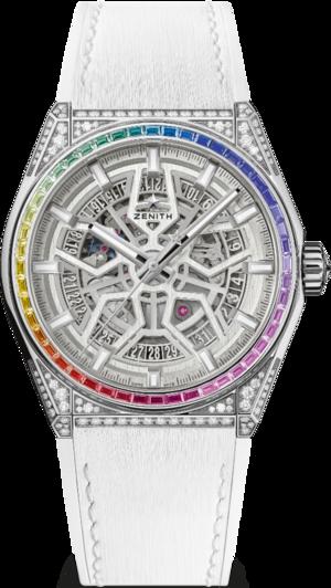 Armbanduhr Zenith Defy Classic Rainbow 41mm mit Diamanten und Kautschukarmband