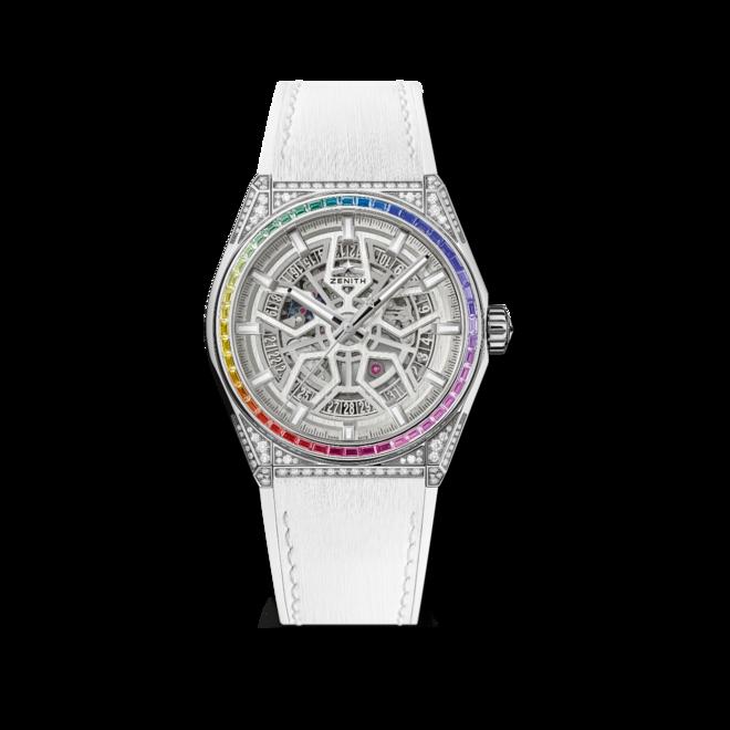 Armbanduhr Zenith Defy Classic Rainbow 41mm mit Diamanten und Kautschukarmband bei Brogle