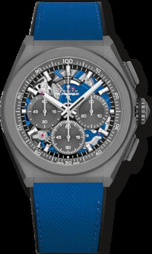Herrenuhr Zenith Defy El Primero 21 Ultrablau mit grauem Zifferblatt und Kautschukarmband