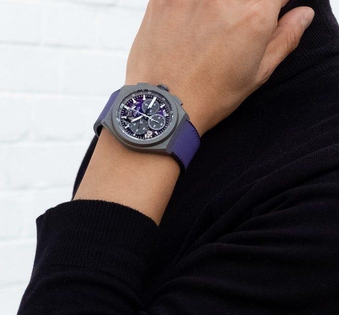 Herrenuhr Zenith Defy El Primero 21 Ultraviolet 44mm mit Kautschukarmband bei Brogle