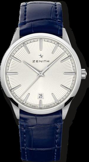 Herrenuhr Zenith Elite Classic 40.5mm mit silberfarbenem Zifferblatt und Alligatorenleder-Armband